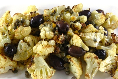 cauliflower with olives