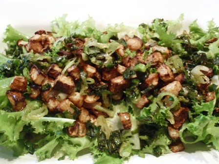 frisee kohlrabi salad with honey mustard dressing