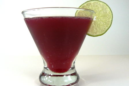 pomegranate kiss martini