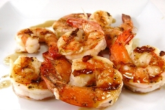 shrimp with pineapple glaze