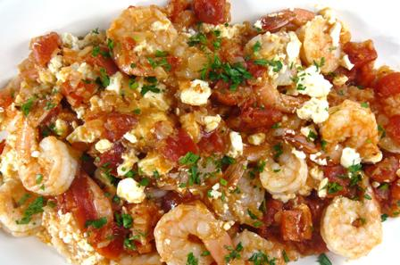 shrimp with feta